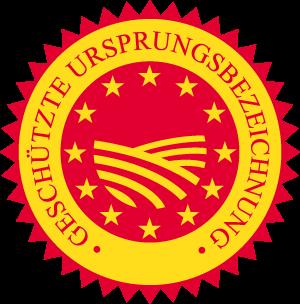 Geschützte Ursprungsbezeichnung (AOP) Siegel