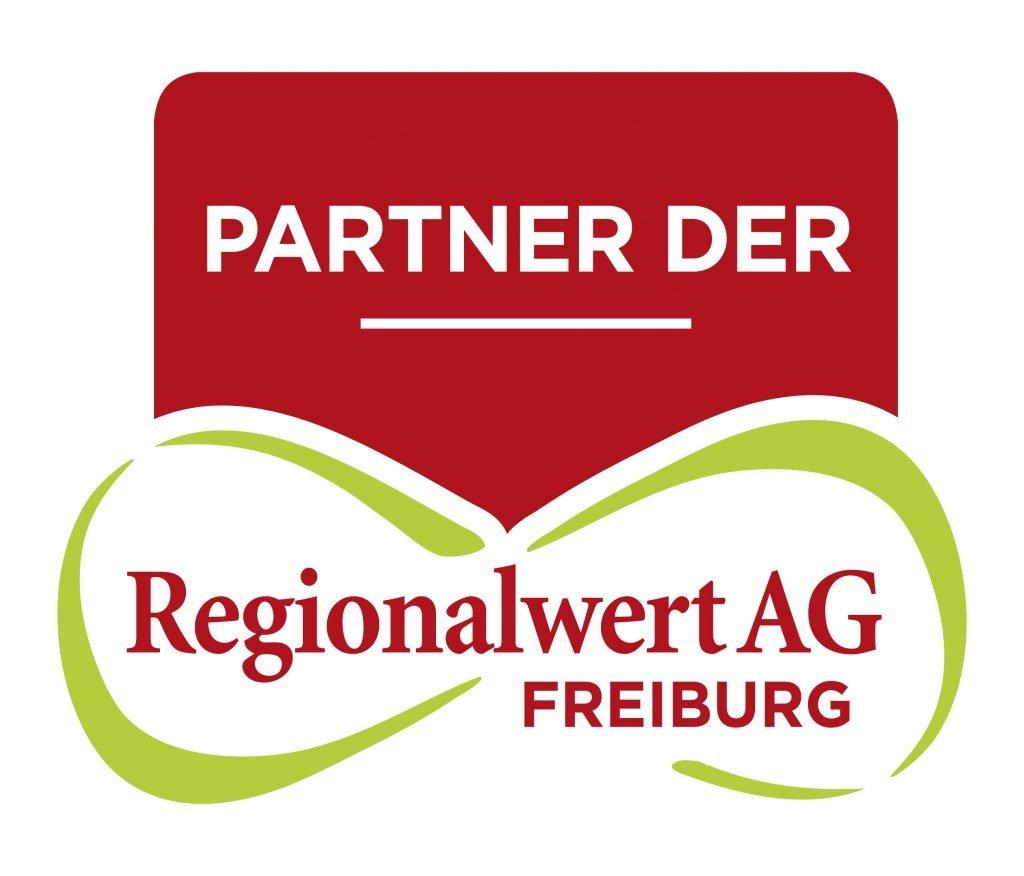 """Logo, auf dem steht """"Partner der Regionalwert AG Freiburg""""."""