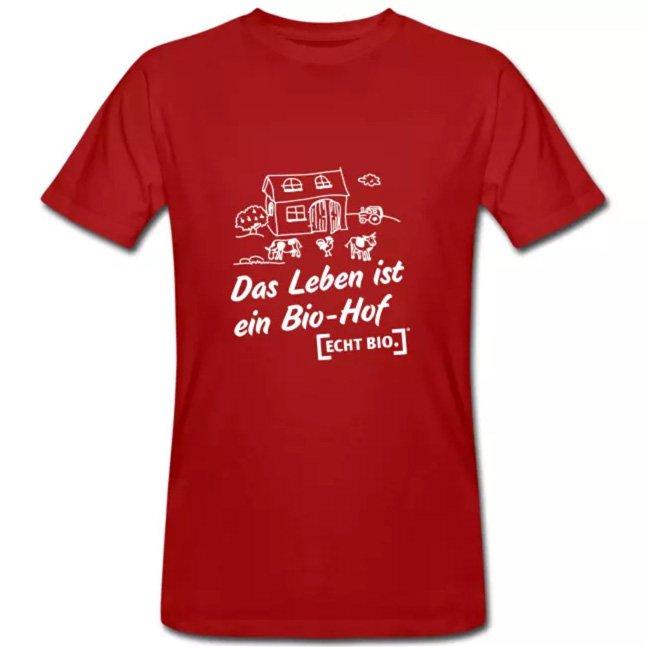 T-Shirt mit Schriftzug 'Das ist ein Bio-Hof'